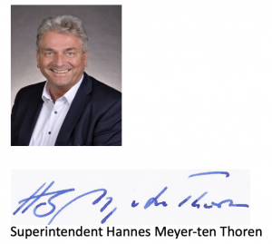 Superintendent Hannes Meyer-ten Thoren